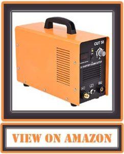 Goplus CUT-50 Electric Digital Plasma Cutter Inverter 50AMP 110/220V Dual Voltage Welder Cutting with Free Mask (Yellow)