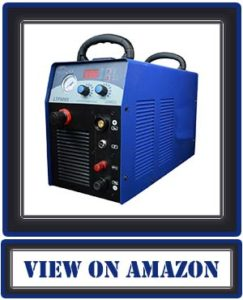 "Lotos Technology LTP8000 80 Amp Non-Touch Pilot Arc Air Plasma Cutter, 1"" Clean Cut, 220/240V, Blue"